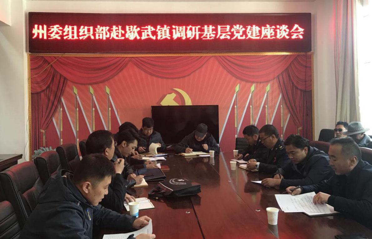 """州委组织部调研组深入称多县开展""""大调研""""活动"""